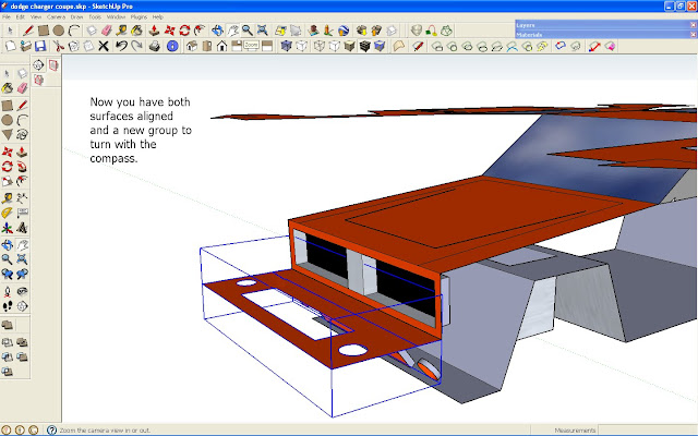 Unfolding in Sketchup free version manually - PaperModelers