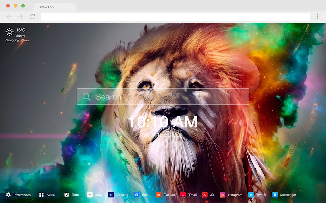 Lion New Tab Page HD Wallpapers Themes