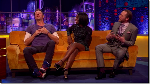 The Jonathan Ross show Coldplay Simon Pegg28