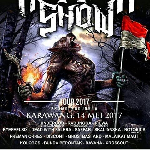 HOROR SHOW TOUR 2017 : Undergod, Dead With Falera, Saffar Dan Skalianska Siap Gempur Karawang, 14 Mei 2017