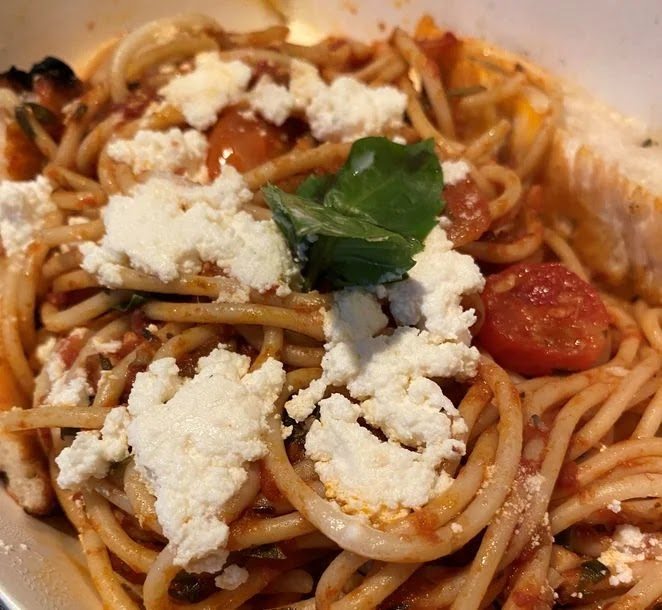 Rodolfo Pizzeria's Tomato Basil and Garlic with Kesong Puti
