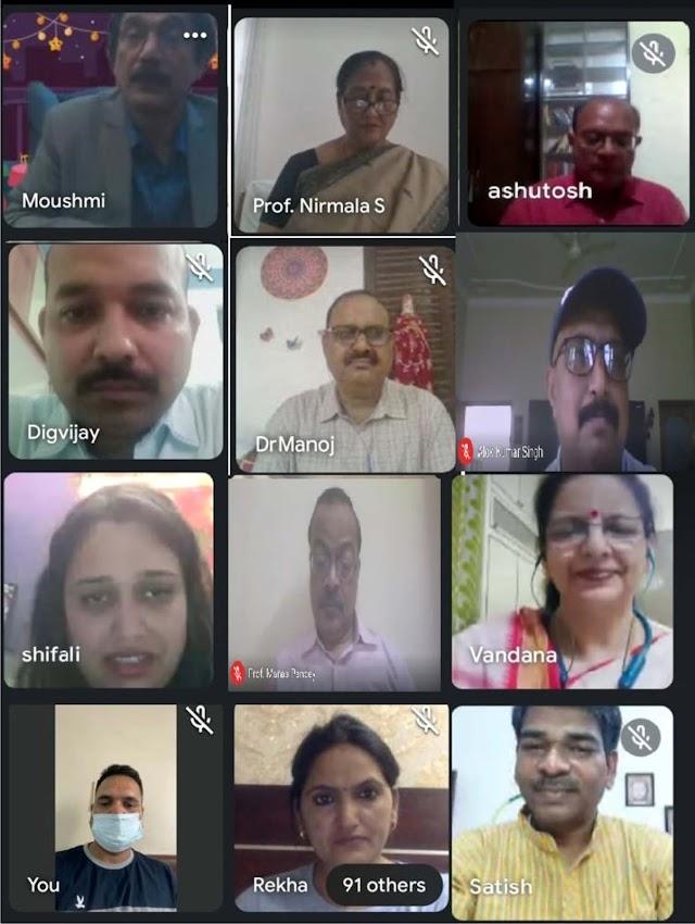 हिन्दी पत्रकारिता दिवस पर पूविवि में वेबिनार का हुआ आयोजन