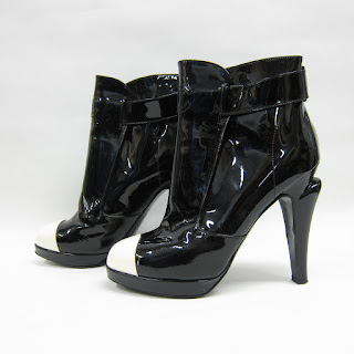 Chanel Cap Toe Ankle Boots