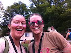 Giddy Julie and I post-race. High on mud and endorphins! (iPhone pic)