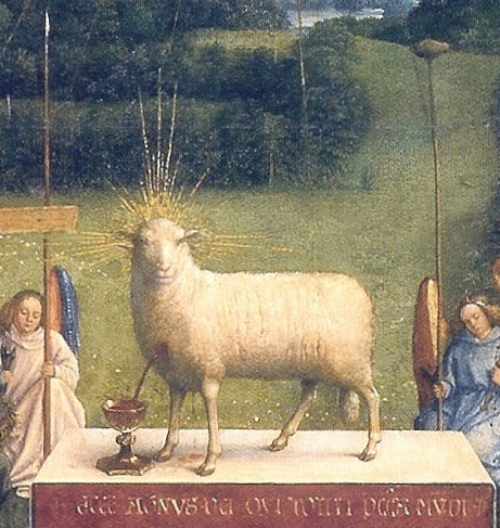 Ghent Altar Piece, 'The Lamb of God' - by Jan Van Eyck (1390-1441)