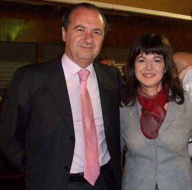 Ripoll y Celia Lledó unidos en la suerte. Foto archivo