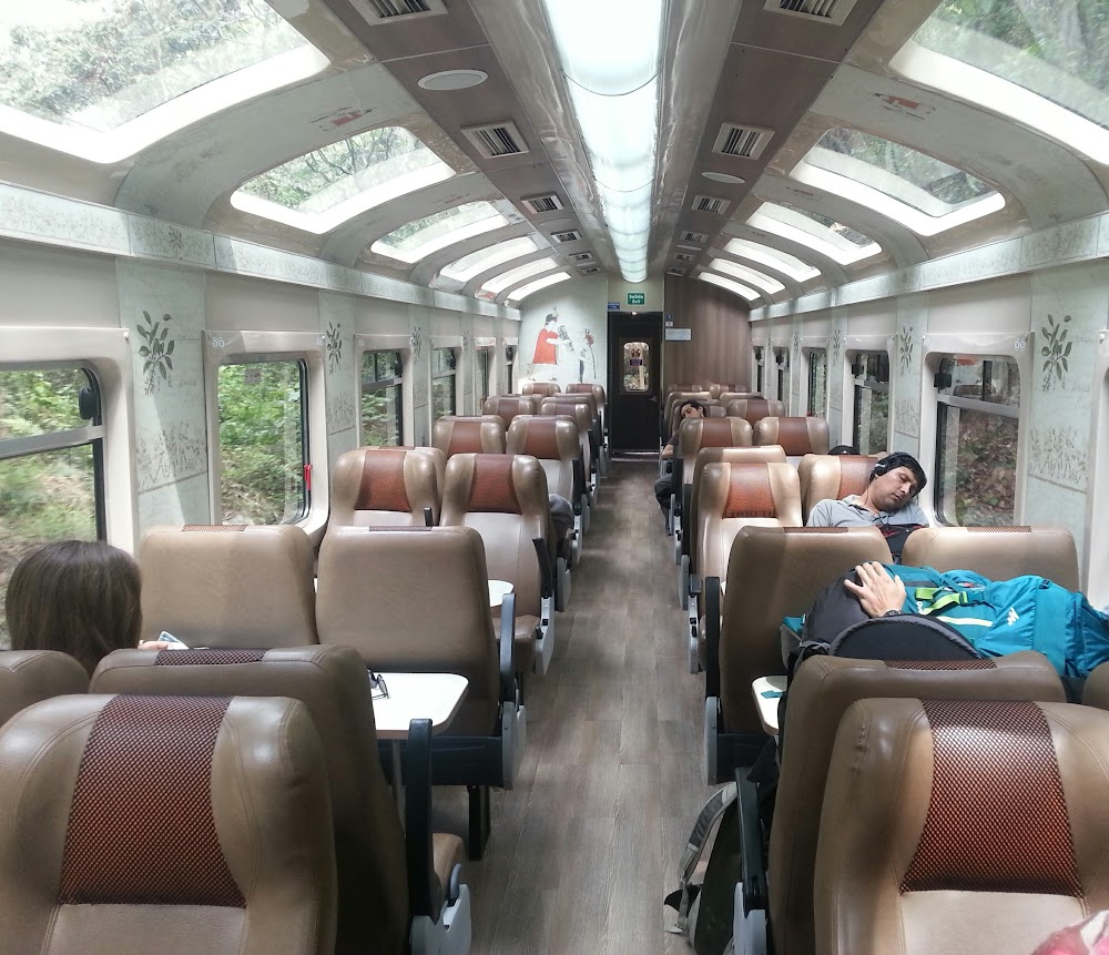 Train from Aguas Calientes to Hydroelectrica