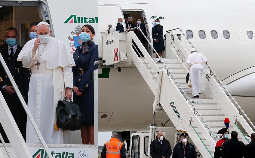 Pope Francis departs from Rome for historic first-ever visit by a pontiff to Iraq.. May God be his Guide (photos)