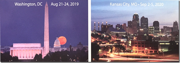 FGS 2019 and FGS 2020 will be held in Washington, DC and Kansas City, Missouri, respectively.