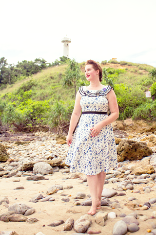 Sisjuly 40s Inspired Nautical Dress | Lavender & Twill