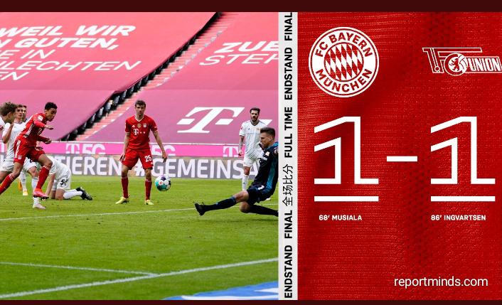 Bundesliga: Bayern Munich held to a 1-1 draw against Union Berlin (Highlights) 2020-2021