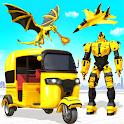 Tuk Tuk Rickshaw Dragon Robot Transform Robot Game icon