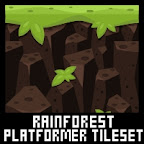 jungle rainforest platformer game tileset