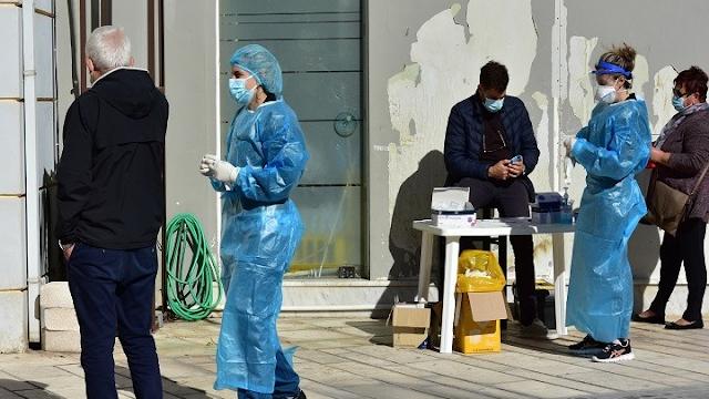 Κορονοϊός-Ελλάδα: 884 νέα κρούσματα, 326 διασωληνωμένοι, 25 θάνατοι