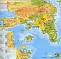 Αττική, γεωφυσικός χάρτης Αττικής, Ελληνικές φυλές.