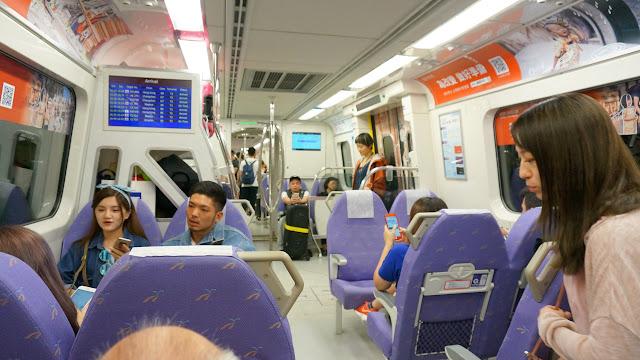 Taoyuan Airport MRT to Taipei Main Station in Taoyuan, T'ao-yuan, Taiwan