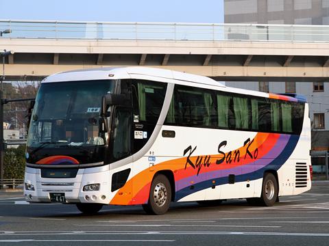 九州産交バス「サンライズ号」 ・467 熊本駅前にて