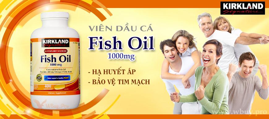 Viên dầu cá Fish Oil Kirkland Signature