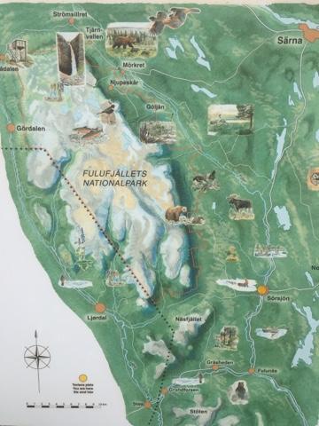 fulufjället karta Husbilen Helge: Fulufjällets nationalpark fulufjället karta