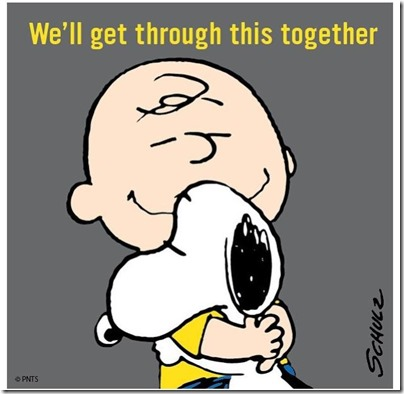 We'll get through this together Snoopy X Charlie Brown