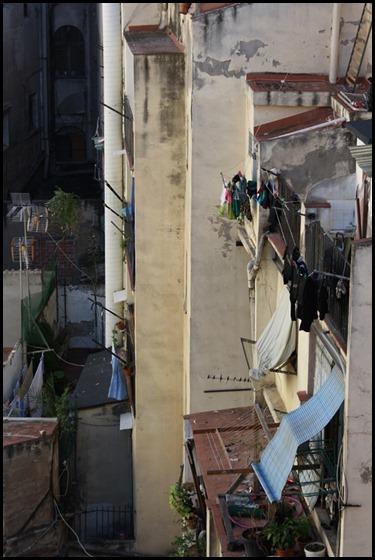 Houses behind Antoni Gaudi's Palau Guell