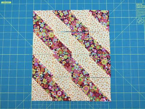 Block 3: 16 HST quilt sampler - beginner quilt