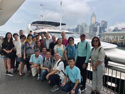 2019年8月17日,李思廉招呼基社同學遊艇河。1:30 pm 在中環九號碼頭集合,2 pm 開船。