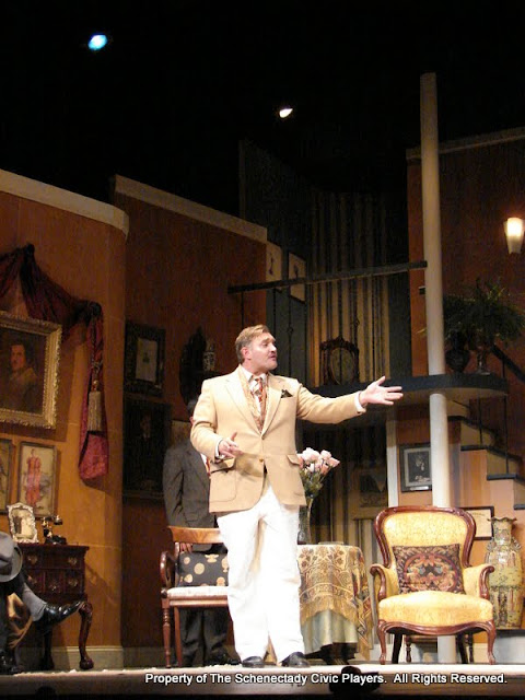 Randy McConnach in THE ROYAL FAMILY (R) - December 2011.  Property of The Schenectady Civic Players Theater Archive.