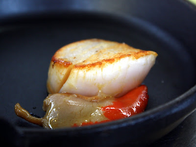 Scallop at The Gun pub in London