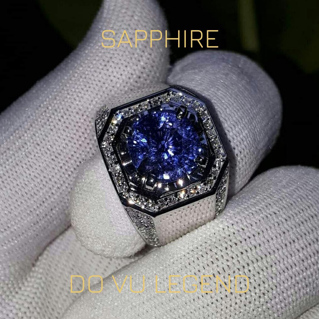 Nhẫn Sapphire, xoàn tấm