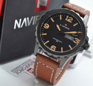 jam tangan NAVIforce NF9039 brown leather