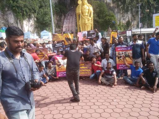 We Support Jallikattu....Malaysian Tamilans at Batu Caves