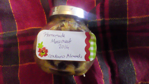 jar of homemade micemeat for traditional christmas