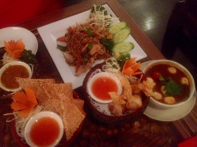 Delicious Thai starters at Kinkao Thai eatery Kinkao Thai Restaurant review - Thai Delights inwards Brick Lane