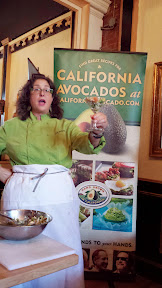 California Avocado Commission and Chef Lisa Schroeder of Mother's Bistro & Bar celebrate June California Avocado Month with  a demo of cutting avocados and making the Avocado, Pink Grapefruit and Dungeness Crab Cocktail