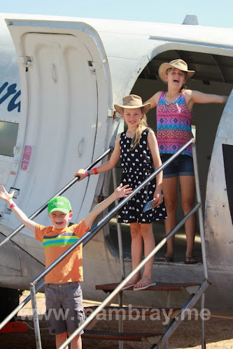 TeamBray kids at the Qantas Founders Museum