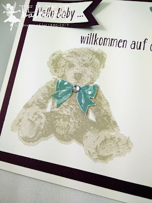 Stampin' Up! - In{k}spire_me #246, Color Challenge, Unentbärliche Grüße, Bear Hugs, Thinlits Mini-Leckereientüte, Mini Treat Bag, Geburt, Birth, Baby
