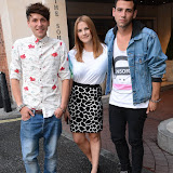 WWW.ENTSIMAGES.COM -    Phil Clifton, Kat Shoob and Jay Camilleri at       You're Next - VIP film screening at The Soho Hotel,  London August 13th 2013                                                 Photo Mobis Photos/OIC 0203 174 1069