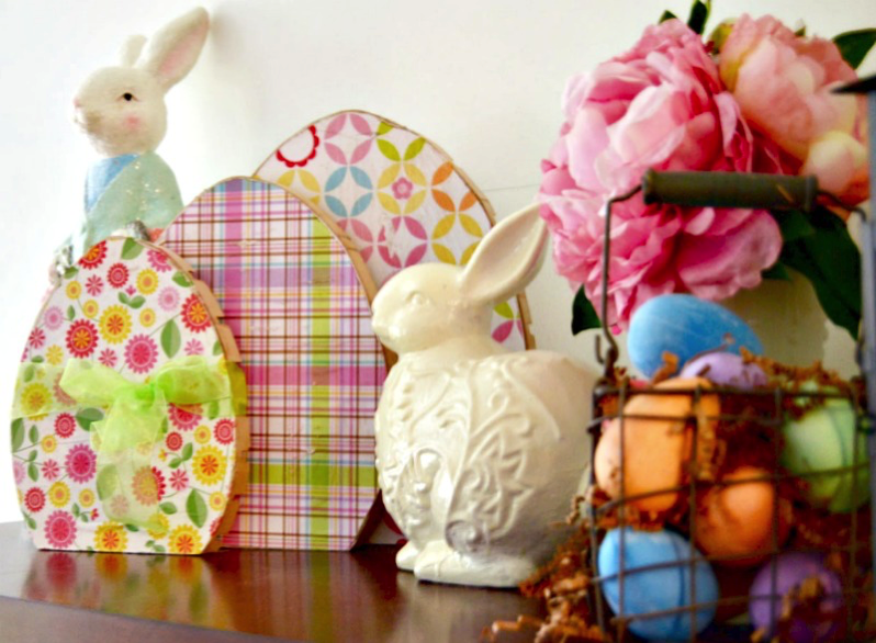DIY wooden easter eggs