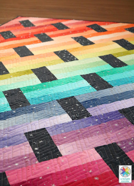 Fast Track quilt pattern by Andy Knowlton of A Bright Corner - pattern in four sizes for jelly rolls, layer cakes, fat quarters, or yardage