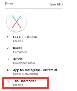 The Unarchiver on the App Store