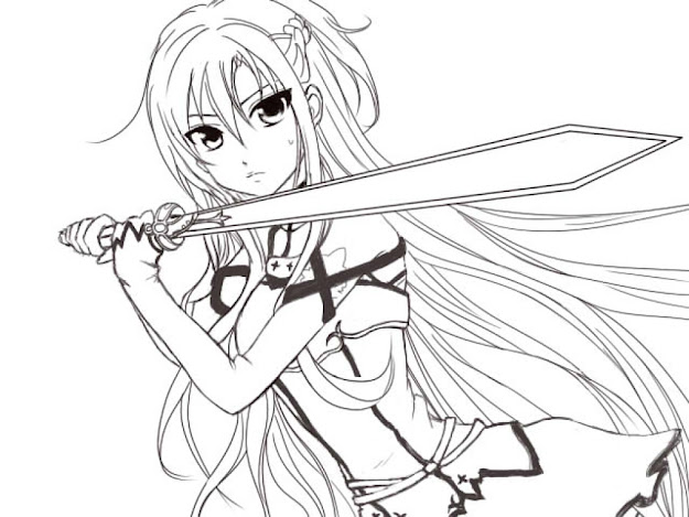Sword Art Online Coloring Pages Az Coloring Pages For Famous Along With  Stunning Sword Art Online