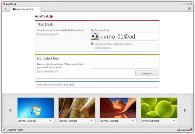 برنامج AnyDesk 2.3.4 لمشاركة سطح المكتب والدعم عن بعد