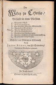 Cover of Jakob Bohme's Book Der Weeg zu Christo Verfasset in Neun Buchlein (1682,in German)