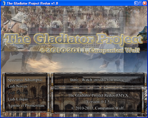 Start Menu - The Gladiator Project