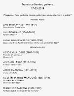 Programa de Concierto de Francisco Bernier