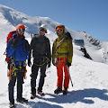 Domagoj, Hrvoje i Joe, u pozadini Goûter 3835m