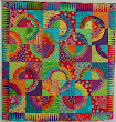 This is one of my favourite quilts-a New York Beauty made by Lisa Price and quilted edge to edge with a design called Star Swirl by Jodie Beamish