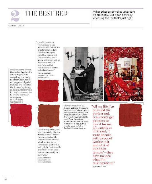 Beautiful Home Part 1: House Beautiful Color Charts {Part II}