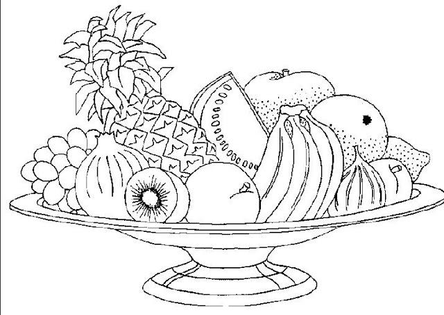 Pintar Dibujos De Frutas Y Verduras Animadas